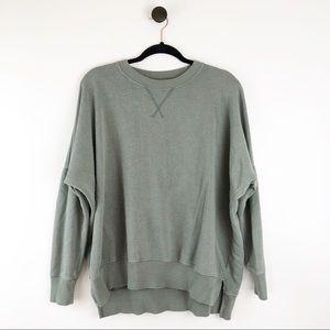 Aerie Crewneck Hometown Sweatshirt Green Sz Small